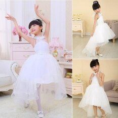 ขาย Sunshop Kids Girls Sweet Style Multi Layer Tulle White Princess Dress For Wedding Banquet Birthday Party Intl ราคาถูกที่สุด