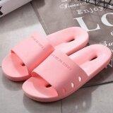 ราคา Sunshop New Fashion Women Men Slippers Flat House Slippers Casual Beach Sandals Soft Shoes Pink Intl Sunshop เป็นต้นฉบับ