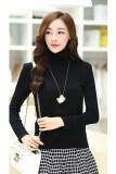 ราคา Sunweb เสื้อยืดคอเต่าผู้หญิงแขนยาวธรรมดาเสื้อยืดเสื้อเชิ้ตเสื้อNbottoming ตัน สีดำ เป็นต้นฉบับ