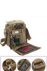 ราคา Sunweb Men Messenger Bags Canvas Vintage Bag Men Shoulder Crossbody Bags Outdoor Travel Bag Brown