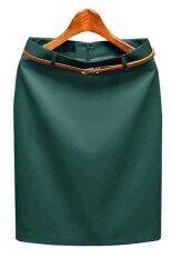 ขาย Sunweb Women High Waist Solid Pencil Skirt Ol Work Formal Slim Skirts Mini Skirt Drak Green Intl Unbranded Generic เป็นต้นฉบับ