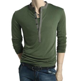 Sunwonder แขนเสื้อชายยาวเสื้อยืด (กองทัพสีเขียว)