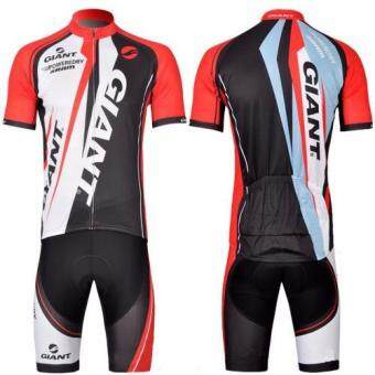 Super D Shopชุดสั้นปั่นจักรยานลายทีม ยี่ห้อ:GIANT กางเกงเป้าเจล แบบ:ผู้ชาย/ผู้หญิง