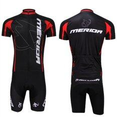 โปรโมชั่น Super D Shop ชุดสั้นปั่นจักรยานลายทีม ยี่ห้อ Merida กางเกงเป้าเจล แบบ ผู้ชาย ผู้หญิง Super D