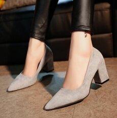 ทบทวน Super Frosted High Heel Shoes Grey Intl