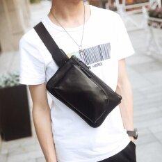 ราคา Super Meกระเป๋าสะพายไหล่ คาดอก หนัง Pu 8076 สีดำ ใน กรุงเทพมหานคร