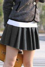 ซื้อ Supercart Elastic High Waist Pleated Mini Skirt Grey Intl ใหม่ล่าสุด