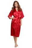 โปรโมชั่น Supercart S*xy Woman Silk Strappy Sleepwear Long Bath Robes Night Gown Pajamas Red Intl