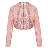 ซื้อ Supercart Women 3 4 Sleeve Lace Crop Shrug Cardigan Short Shawl Wrap Coat Intl Unbranded Generic ถูก