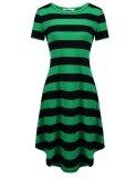 ราคา Supercart ผู้หญิงคอสั้นแขนยาวลายชุดลำลองหลวมๆ สีเขียว สนามบินนานาชาติ เป็นต้นฉบับ