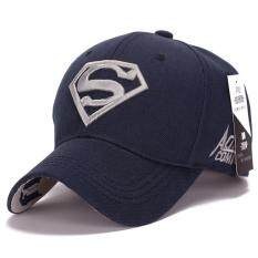 ขาย Superman Baseball Cap Hats For Men Women Adjustable S Logo Letter Casual Outdoor Snapback Hat Silver Dark Blue Intl