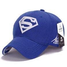 Superman Baseball Cap Hats For Men Women Adjustable S Logo Letter Casual Outdoor Snapback Hat Blue Intl ใน จีน