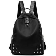 ขาย Sw Shop กระเป๋าเป้ผู้หญิง กระเป๋าแท็บเล็ต Backpack กระเป๋าทำงาน กระเป๋าสะพายหลัง กระเป๋าผ้าน้ำหนักเบา กระเป๋าเป้แฟชั่นสไตล์วัยรุ่นเกาหลี สีดำ ผู้ค้าส่ง