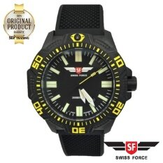 ซื้อ Swiss Force Quartz Men S Watchc Adventure Ll Black Yellow Carbon Fiber รุ่น Sfb05 P Bkye ถูก