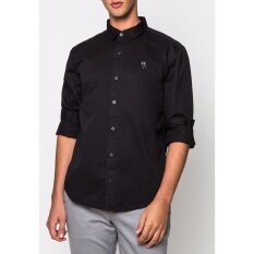 ขาย Swoop เสื้อเชิ้ตแขนยาว ปักโลโก้นกฮูก เสื้อผ้าผู้ชาย 2Gm42E1002 สีดำ Swoop ถูก