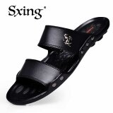โปรโมชั่น Sxing Luxury Brand Men S Flip Flops Fashion Slippers Summer Beach Sandals Shoes For Men Flip Flops Black ถูก