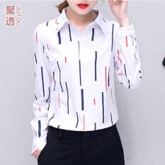 ขาย เกาหลีพิมพ์ชีฟองหญิงแขนยาวเสื้อเชิ้ตสีขาวเสื้อเชิ้ต T 2165 ผู้ค้าส่ง