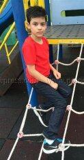 ราคา T Shirt Export เสื้อยืดเด็ก คอกลม แขนสั้น Cotton 200 สีแดง ถูก