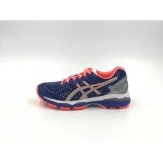 ราคา Asics Women Running Shoes รองเท้าวิ่งผู้หญิง T6A6N 4593 Gel Kayano 23 Lite Show Asics Blue Silver Flash Coral F ใหม่