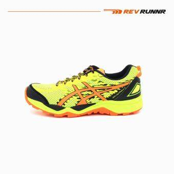 Asics Men Running Shoes รองเท้าวิ่งผู้ชาย T6J0N.0730-GEL-FujiTrabuco 5-SAFETY YELLOW/SHOCKING ORANGE/BLACK-MEN