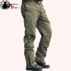 ขาย กางเกงยุทธวิธีชาย 101 กระโปรงพลัสขนาดฝ้ายกางเกงหลายกระเป๋าสไตล์ทหารกองทัพพรางกางเกงคาร์โก้ของผู้ชายกองทัพสีเขียว นานาชาติ ถูก จีน