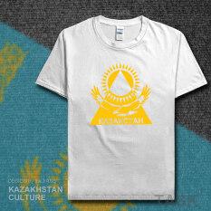ซื้อ แห่งชาติฝ้ายชายฟุตบอลเสื้อผ้า Tamboura เสื้อยืด แขนสั้นสีขาว ออนไลน์