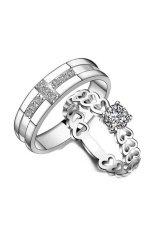 ขาย Tanittgems แหวนคู่ แหวนคู่รักแบบกางเขน หัวใจประดับเพชรน้ำงาม ถูก