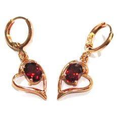 ขาย Tanittgems ต่างหูทองรูปหัวใจประดับพลอยโกเมนสีแดง Er22414 ออนไลน์ กรุงเทพมหานคร