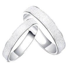 ซื้อ Tanittgems แหวนเกลี่้ยงคู่รัก แบบพ่นทราย รุ่น Tncr013 White Gold ใหม่