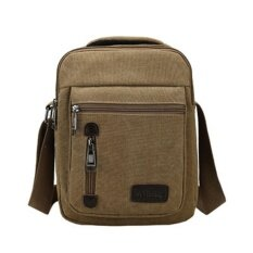 ส่วนลด Tas Selempang Pria Kanvas Import Vintage Messenger Crossbody Bag Khaki Intl Betterlife จีน