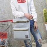 ราคา Tb Fashionกระเป๋าแฟชั่น กระเป๋าสะพายไหล่ รุ่น Tb01 สีเทา ถูก