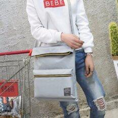 Tb Fashionกระเป๋าแฟชั่น กระเป๋าสะพายไหล่ รุ่น Tb01 สีเทา ใหม่ล่าสุด