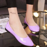ซื้อ Tb Joy Women S Candy Colored Patent Leather Pointed Flat Shoes Purple Intl ออนไลน์
