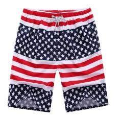 ขาย ซื้อ ออนไลน์ Tb Korean Men S Casual Large Size Beach Pants Stars Intl
