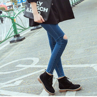 TB Martin boots matte female boots Black - intl