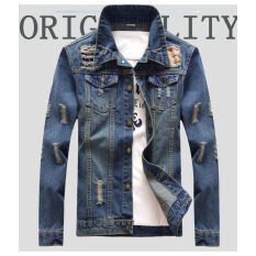 ขาย Tb Men S Denim Jacket Fashion Jacket Blue Intl จีน