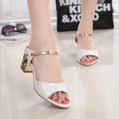 ขาย ซื้อ Tb The New Fish Head High Heeled Sandals White Intl ใน จีน