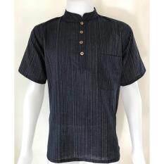 เสื้อผ้าฝ้าย Tc คอจีน กระดุมกะลา 4 เม็ด แขนสั้น Whan Huen Fai ถูก ใน กรุงเทพมหานคร