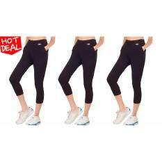 ราคา Teens Sport กางเกงฟิตเนส โยคะ ออกกำลังกาย 4ส่วน Packx3 Tc 051 Spandex ใน ไทย
