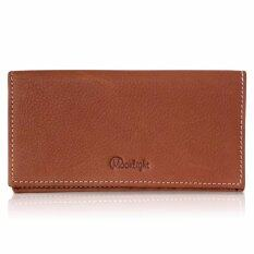 ขาย Super Sale กระเป๋าสตางค์หนังแท้ ใบยาว แบรนด์ Moonlight สีแทน ส่งฟรี พร้อมกล่อง ขายโดยตรงจากผู้ผลิต ใน กรุงเทพมหานคร