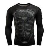 ราคา พันธมิตร Avengers Batman เหงื่อความเร็วแห้งเสื้อผ้าผู้ชาย เสื้อยืดแขนยาวสำหรับฟิตเนส ใหม่ล่าสุด