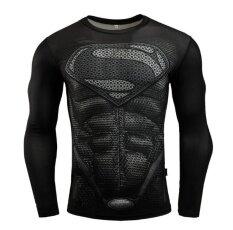 ราคา ราคาถูกที่สุด พันธมิตร Avengers Batman เหงื่อความเร็วแห้งเสื้อผ้าผู้ชาย เสื้อยืดแขนยาวสำหรับฟิตเนส