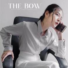 ขาย The Bow เสื้อเชิ้ตสีเทาซ่อนกระดุม ออนไลน์ กรุงเทพมหานคร