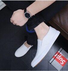 ขาย The Lazy Man Shoes White Canvas Shoes Unbranded Generic เป็นต้นฉบับ