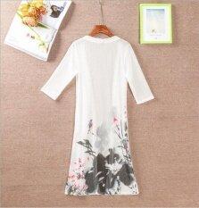 โปรโมชั่น The New Sunscreen Clothing Dress Cardigan Retro Printing Thin Coat Air Conditioning In The Long Section Sweaters Shawls Intl จีน