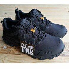 โปรโมชั่น The Tank รุ่น Gm รองเท้าผ้าใบ เดินป่า กันน้ำ สีดำ ถูก