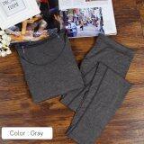 ซื้อ The Traveler Heattech No ลองจอน กันหนาว ทั้งชุด เสื้อแขนยาว กางเกงขายาว สีเทา ออนไลน์ กรุงเทพมหานคร