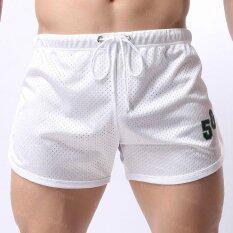 ขาย Theias Men Arrow Pants Sport Trunks Home Mesh Nightwear Sleep Pajamas Summer Air Permeability White Intl Theias ถูก