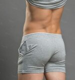 Theias Men Sportswear Arrow Pants Nightwear Shorts Home Wear Gym Trunks Underpants Underwear Grey Intl Theias ถูก ใน จีน