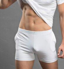 ขาย Theias Men Sportswear Pants Nightwear Shorts Home Wear Gym Trunks Underpants Underwear White Intl ใหม่